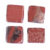 Semi-Precious 4X4mm Cube Red Jasper